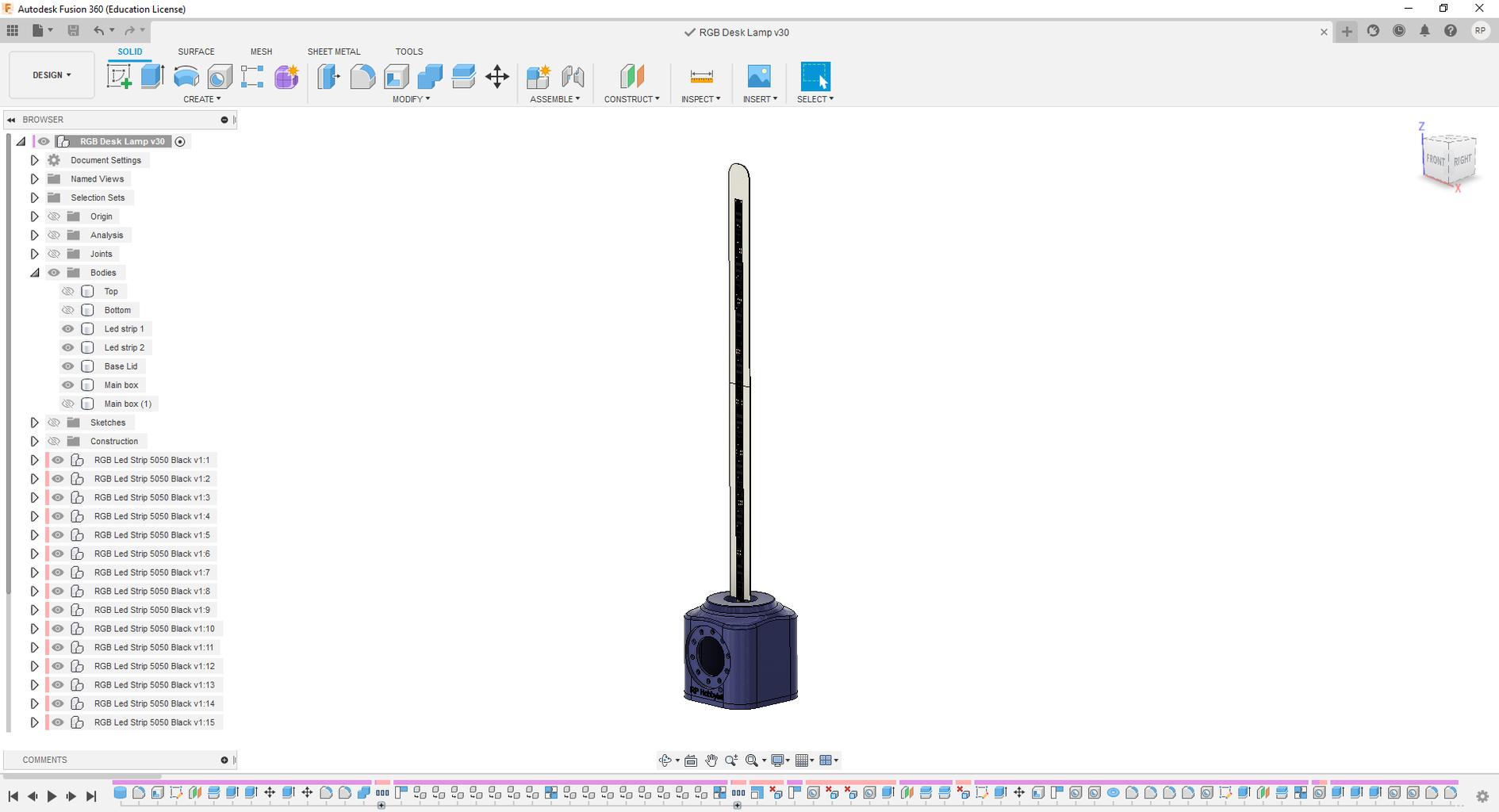 Design in Fusion360 and Download Fusion360 Design File (Version:2 Lamp)
