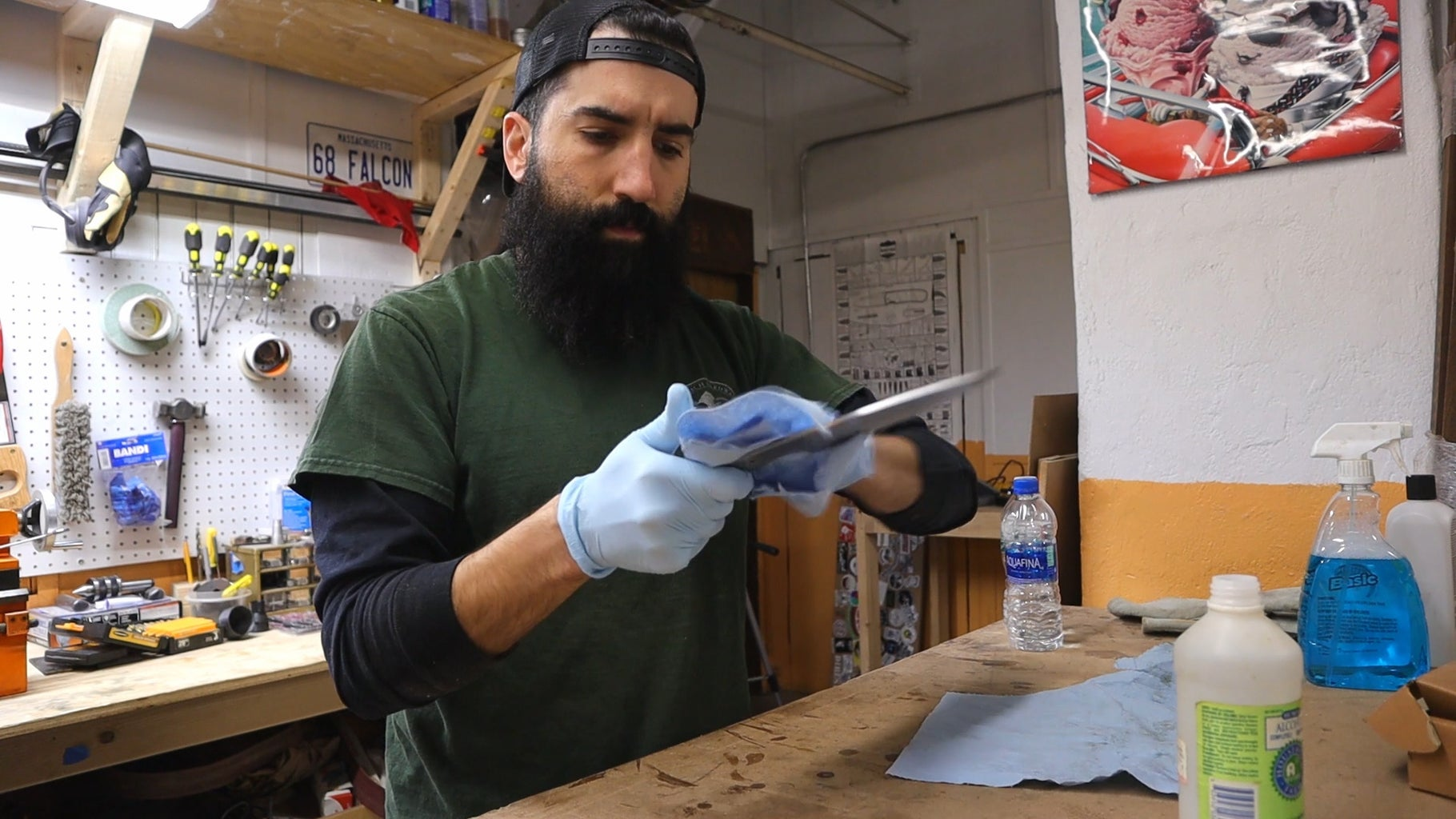 Cleaning the Blade Before the Acid Bath