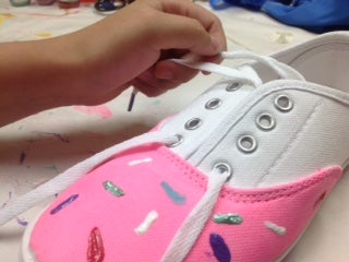 Putting the Shoelaces Onto the Shoe