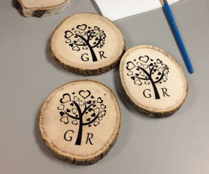 DIY Screen Printing on Wood Coasters for Wedding Gift