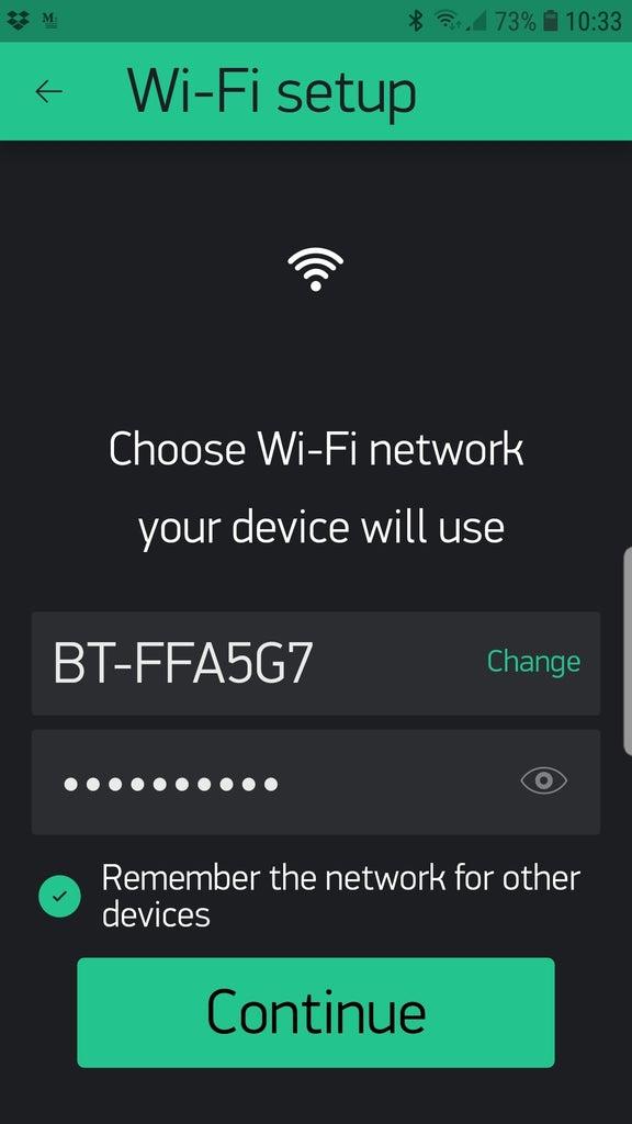 Resetting the WiFi