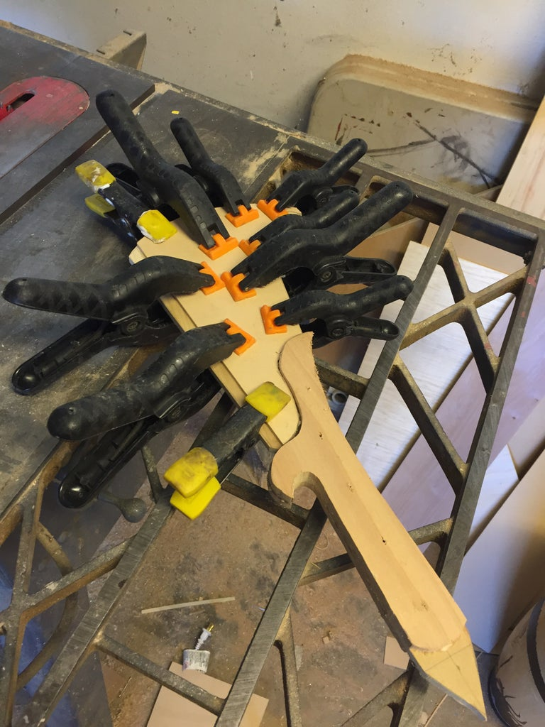 Glue, Clamp and Sand