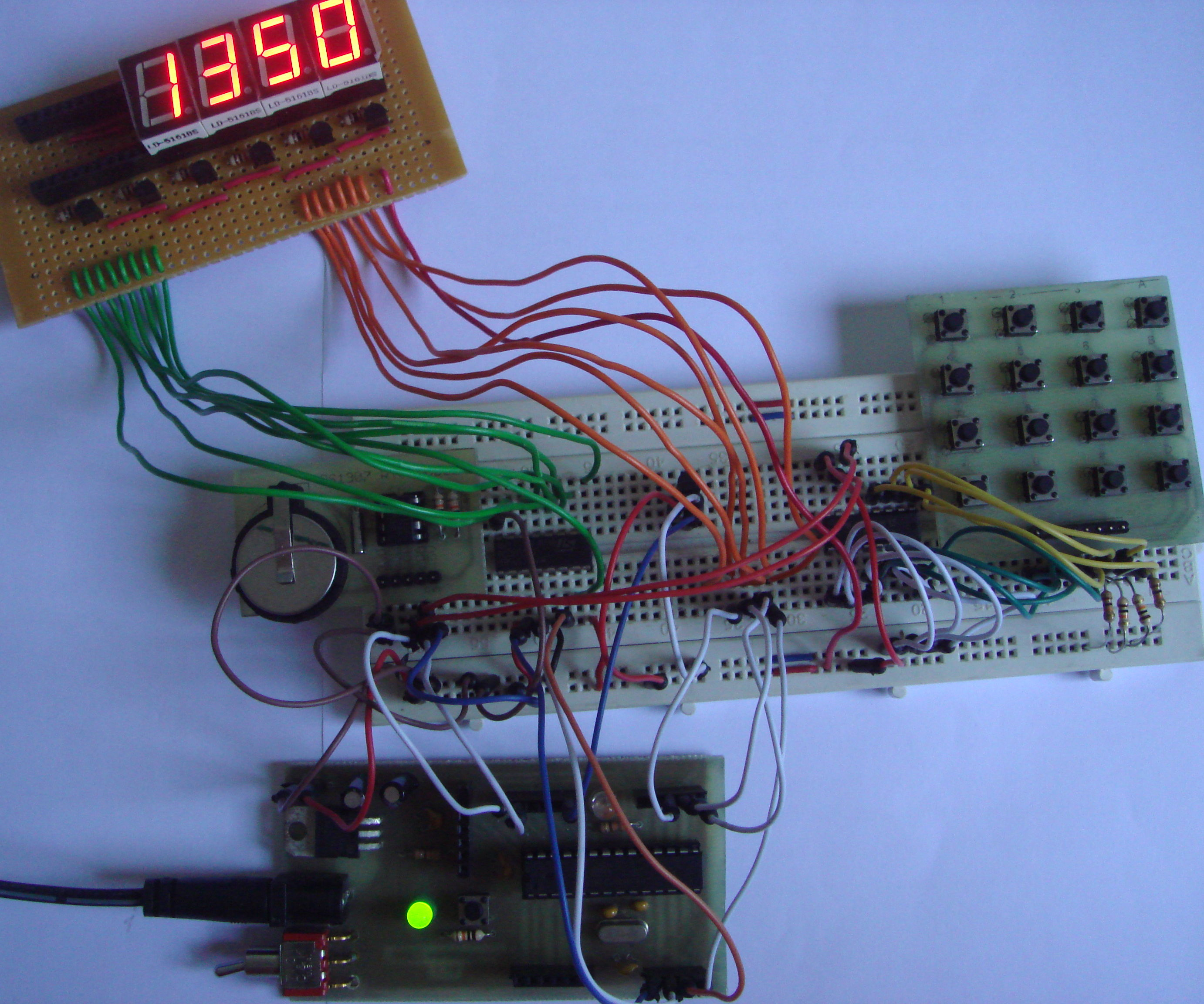 Digital Alarm Clock Using 7 Segment Display