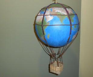 Steampunk Hot Air Balloon From a Globe