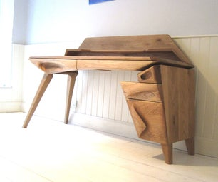 Sculpted Oak Desk