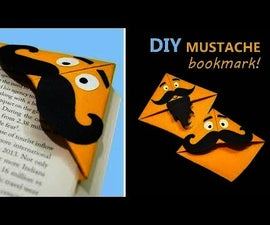 Mustache Bookmark