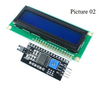 I2C Backlight Control of an LCD Display 1602 / 2004 or HD44780 Etc