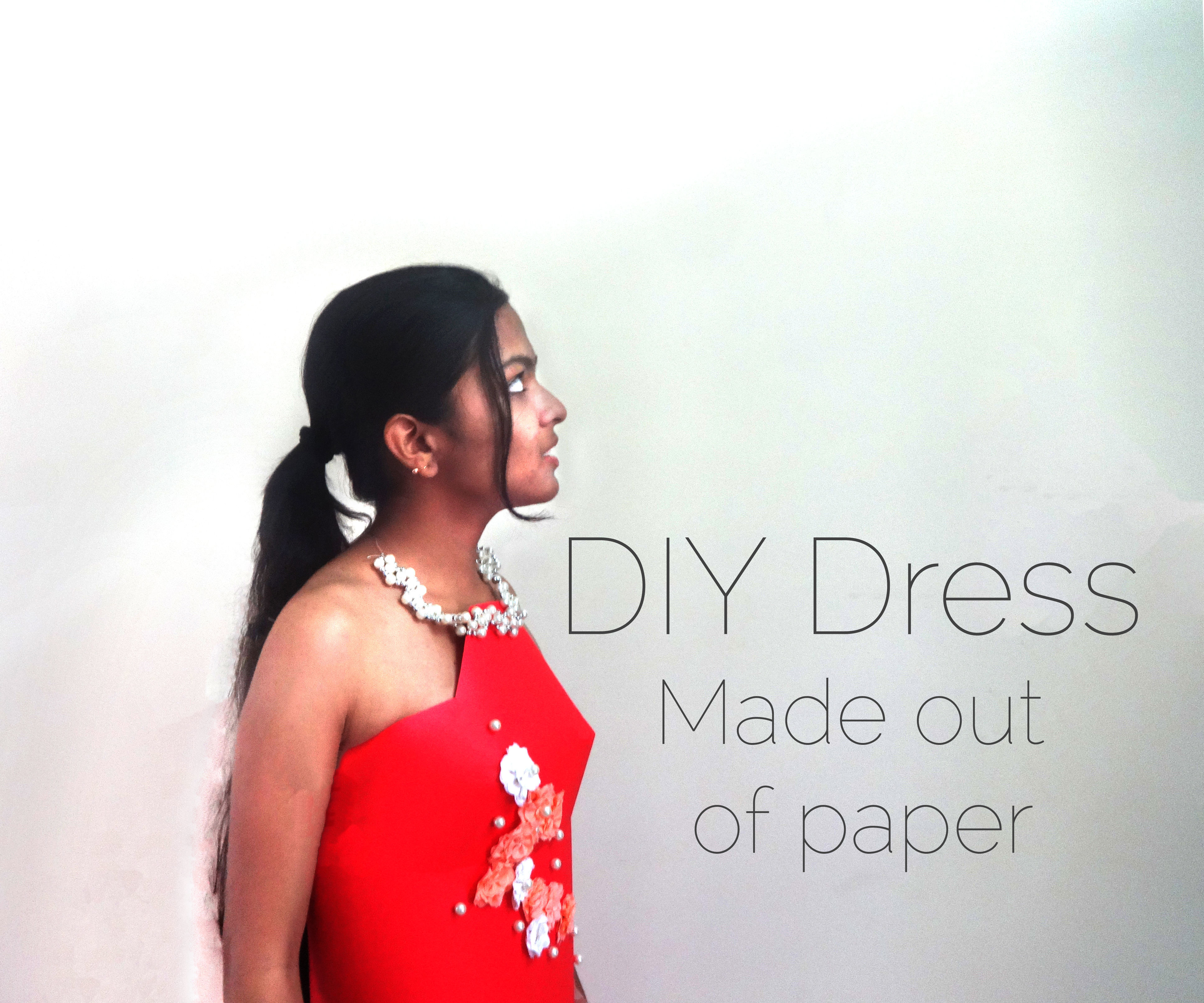 DIY Full-sized Dress, Made Entirely Out of Paper!