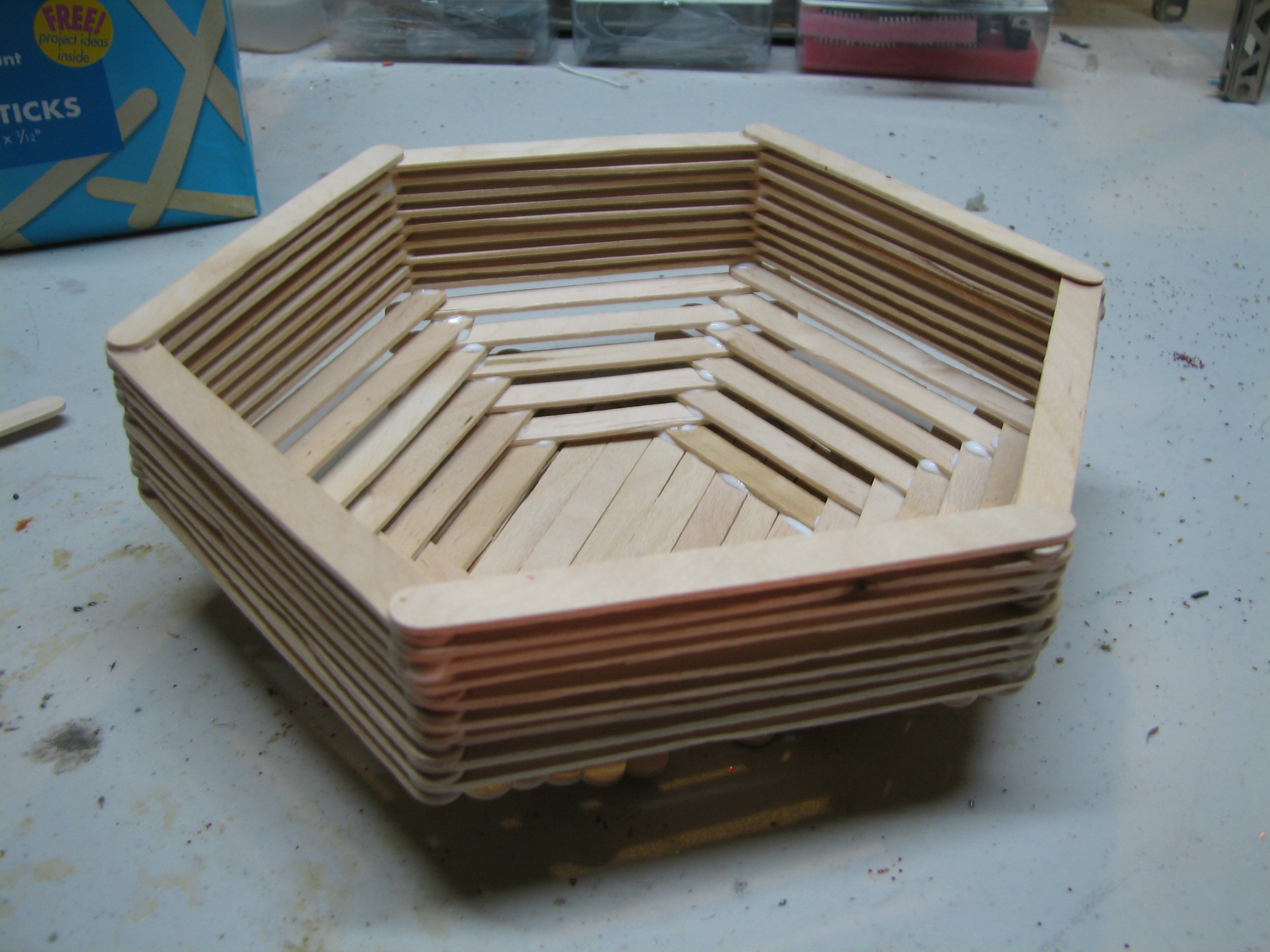 Popsicle Stick Basket