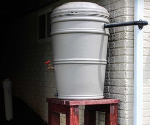 Rain Barrel Stand and Installation