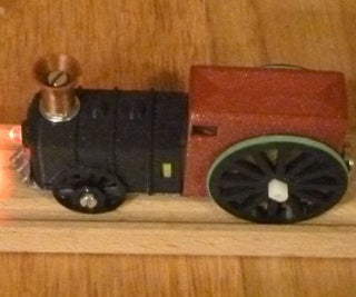 Electric Locomotive for Wooden Train Tracks (USB Rechargeable)