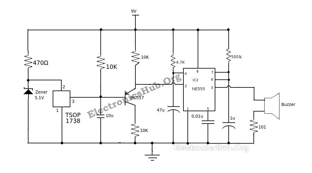 Remote Controlled Alarm Circuit