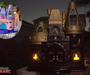 How to Make a DIY Haunted/Gothic Castle From an Old Plastic Dollhouse