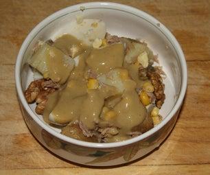土豆沙拉配金枪鱼和鸡蛋