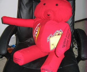 Stuffed Bear Pillow From Old T-shirts