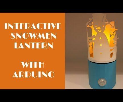 Paper Snowmen Lantern With Arduino
