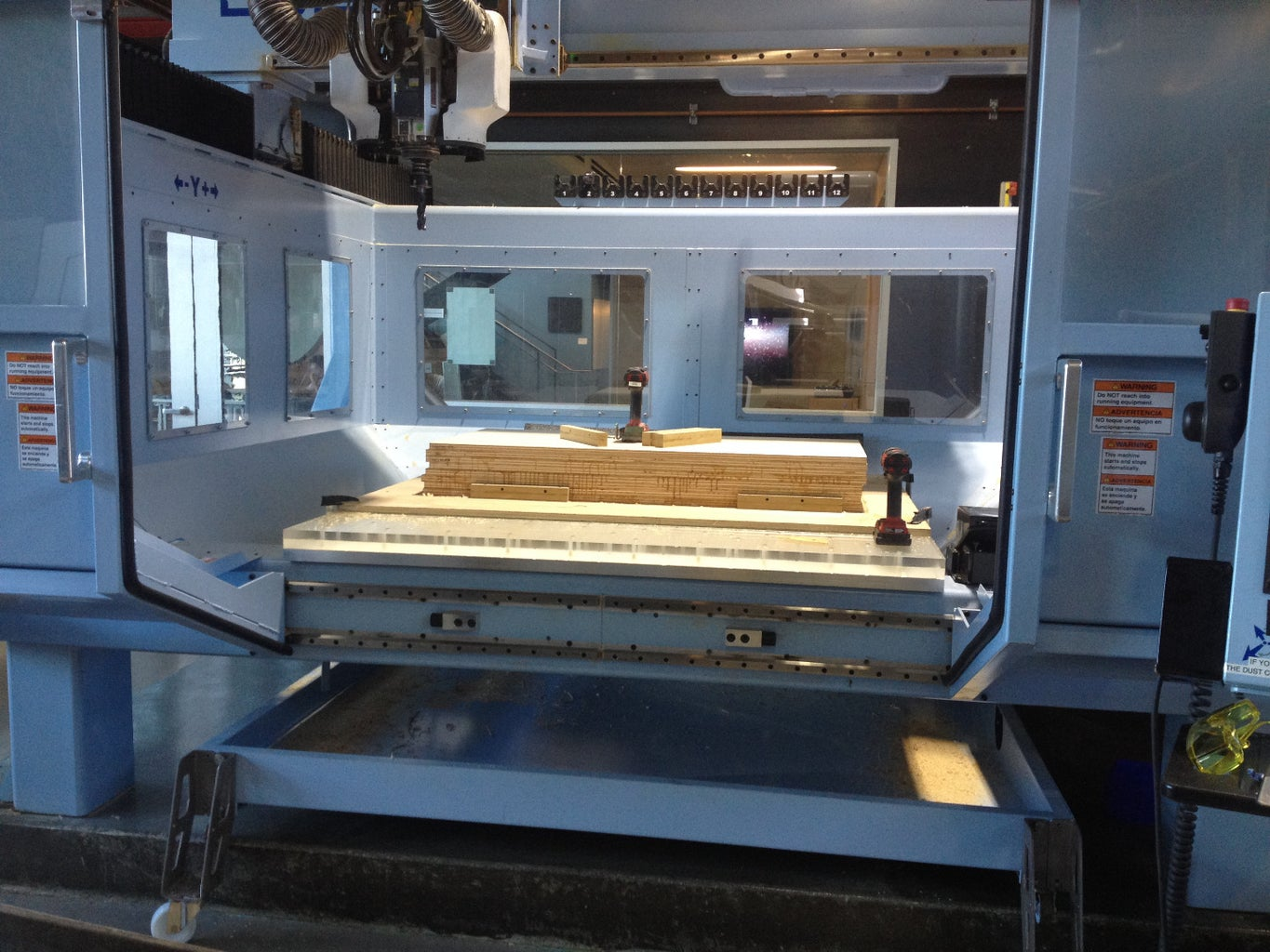Setting Up the Machine and Machining the Front Side