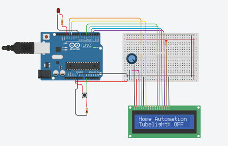 Lcd Project With Led on or OFF With Arduino