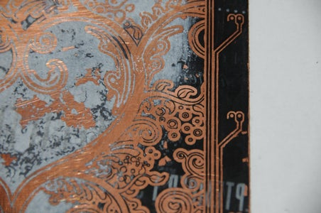 Etched Copper Board Valentine's Day Art W/LEDs