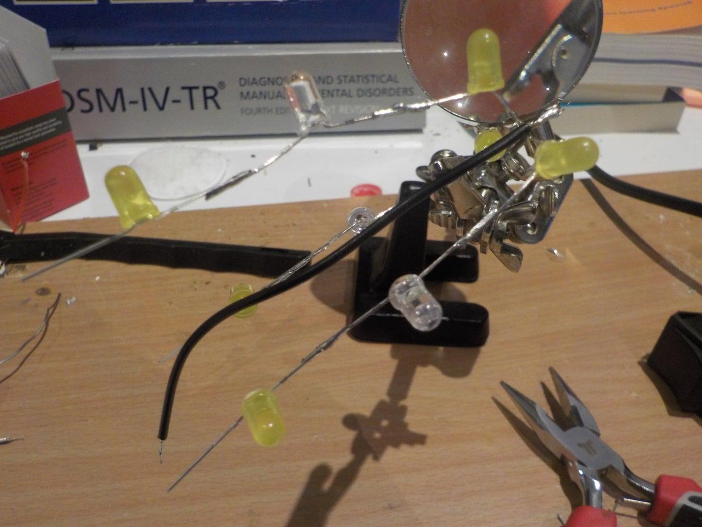 Solder the LED Strings Together