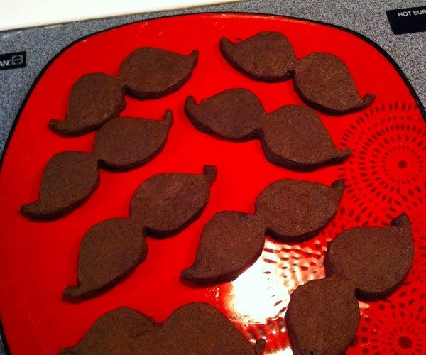 (Gluten Free) Chocolate Peanut Butter Mustache Cookies
