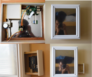 Facial Recognition Mirror With Secret Compartment