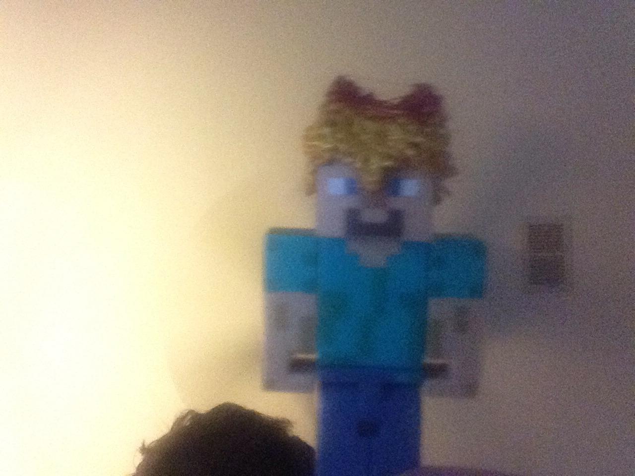 How To Make A Minecraft Figure Hat/helmet