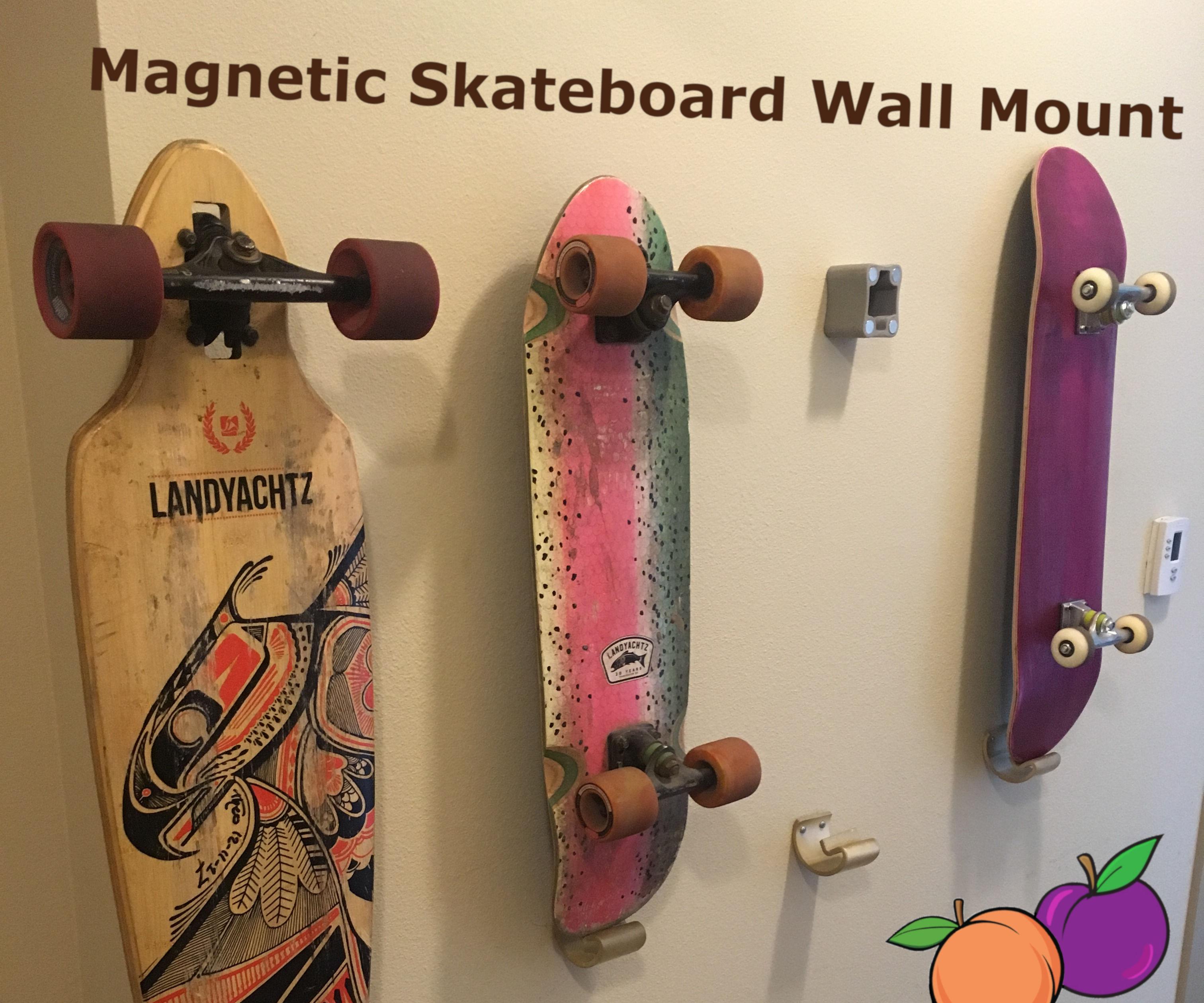 Invisible(ish) Skateboard Holder