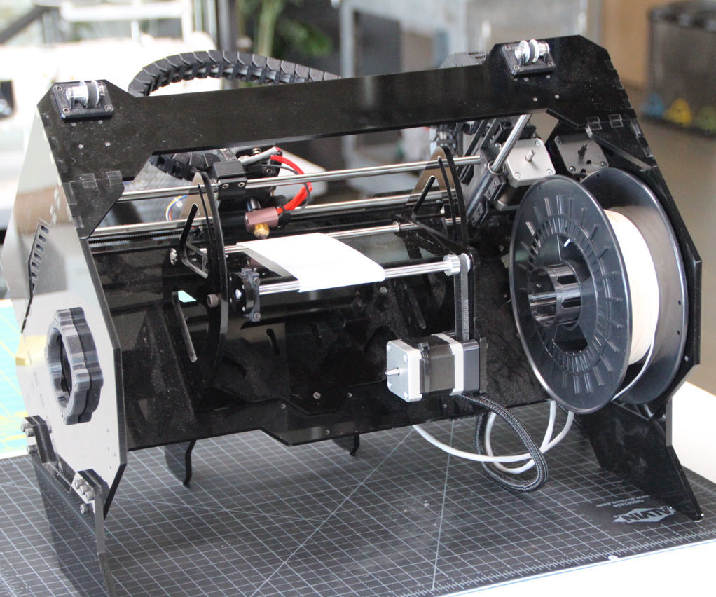 The Lum 3D Printer:  Lower Frame and Conveyor Module for Infiniprinting