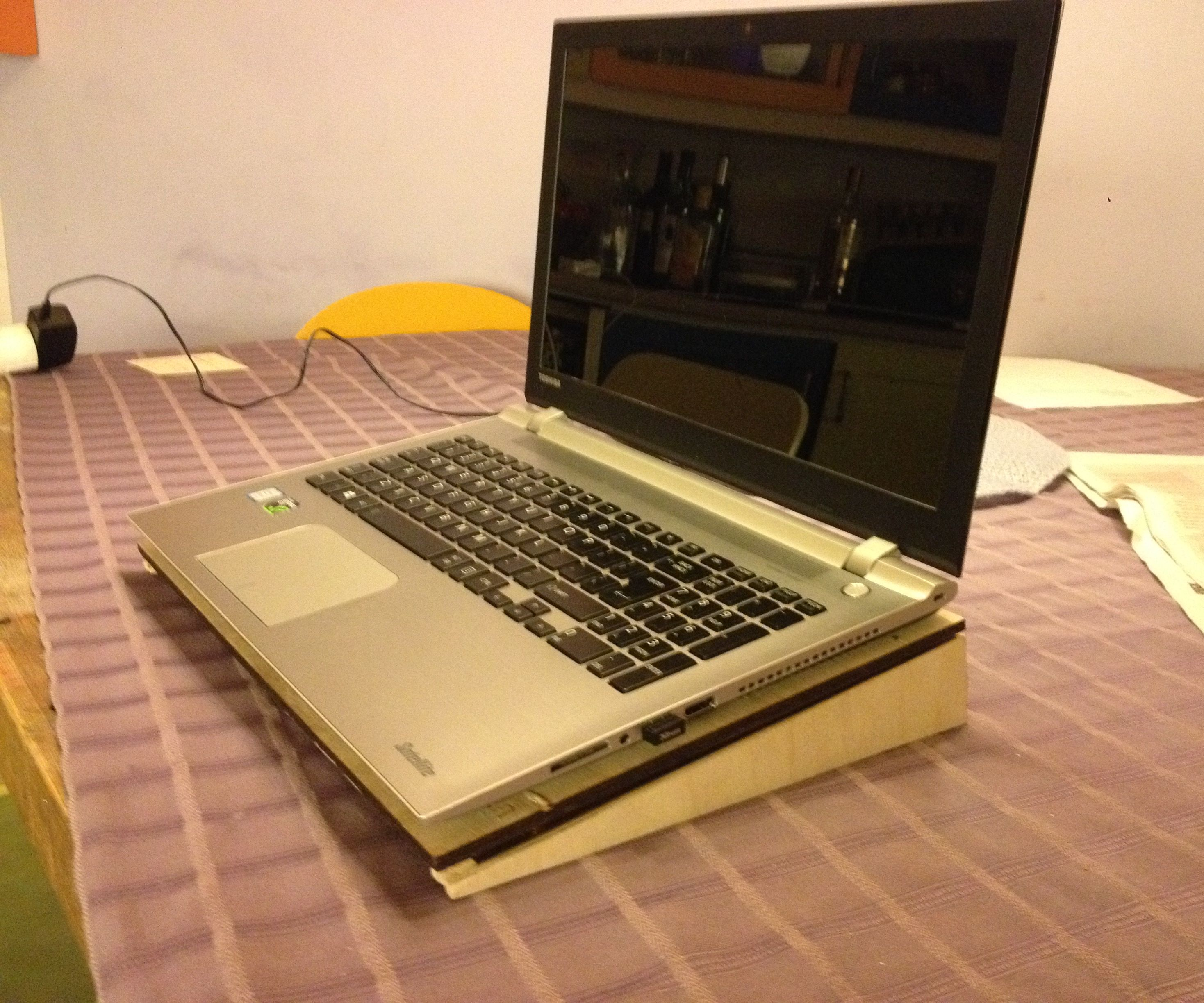 Cooled Laptop stand