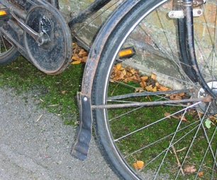 Recycled Leather Mud Flap for a Vintage Bicycle