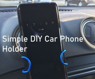 Simple DIY Car Phone Holder