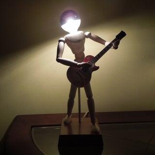 Wood Manikin Figure Lamp With IPad - a DIY Tutorial