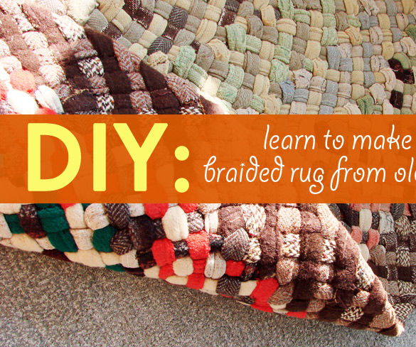 DIY: Learn How to Make a Beautiful Braided Rug From Old Fabric