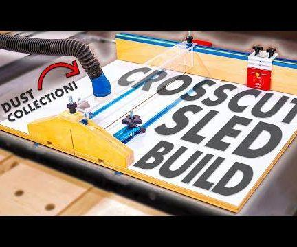 TABLE SAW CROSS CUT SLED W/ STOP BLOCK & DUST COLLECTION // HOW TO MAKE