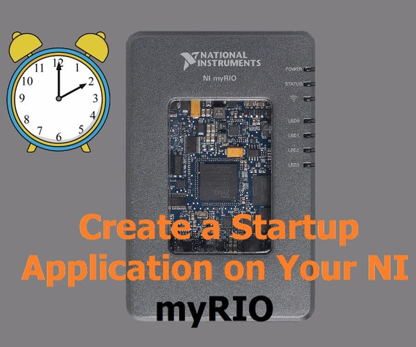 Deploy a Startup Application to Your MyRIO