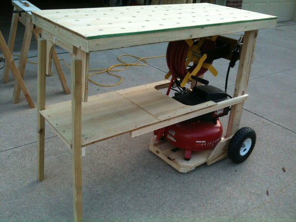 Portable Worktable Using Compressor Cart