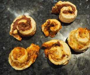 Quick Cheesymite Scrolls + Choc Hazelnut Scrolls