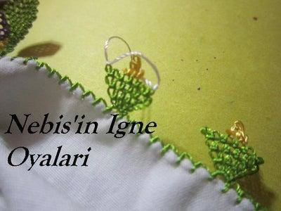 Making the Point Lace Daisy - Igne Oyasi Papatya Yapimi