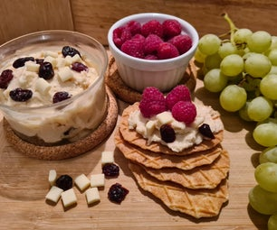 White Chocolate and Cranberry Cookie Dough Dip