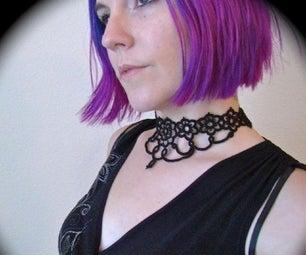 Grand Daisy Tatted Lace Choker