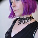 Grand Daisy Tatted Lace Choker