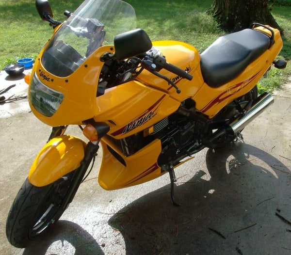 How to Debadge (remove Decals) From a Motorcycle.