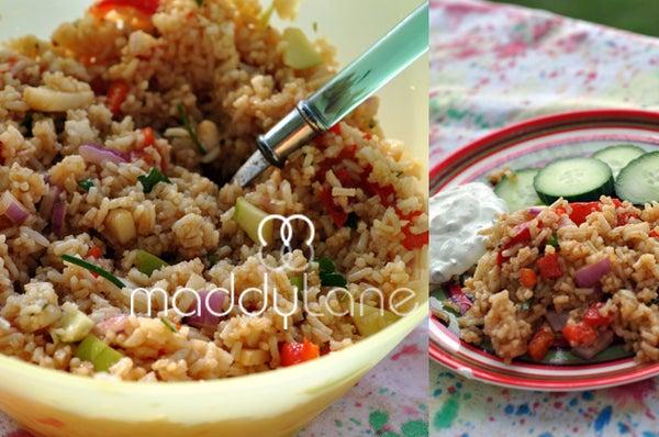 Sweet Curry Summer Rice Salad Recipe