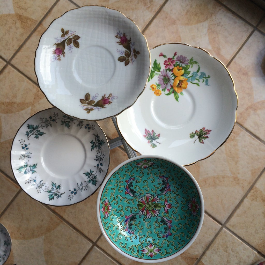 Adhere Saucers and Tea Cups