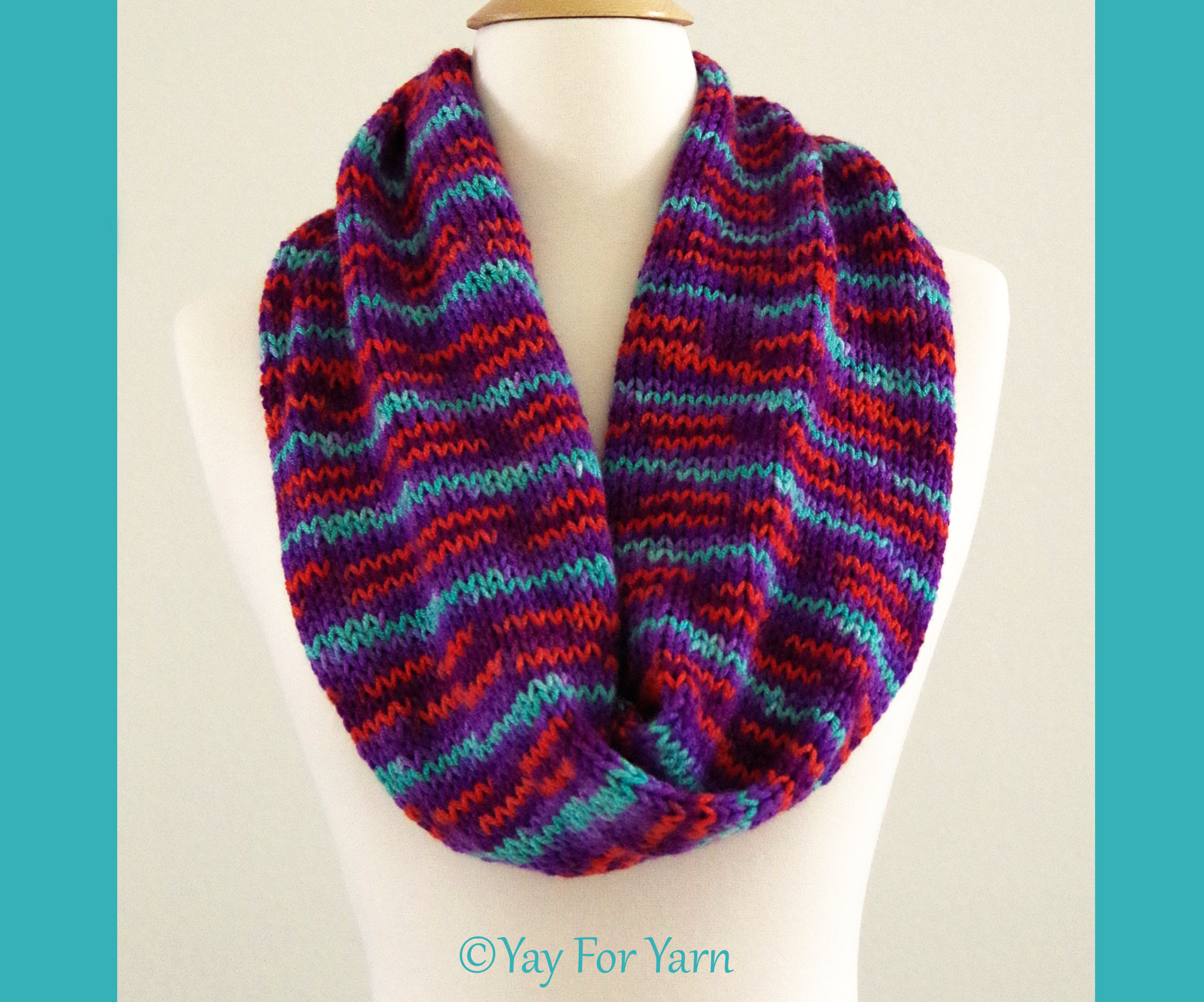 How to Knit and Infinity Scarf on Your Addi King Knitting Machine