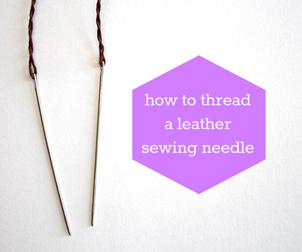 How to Thread a Leather Needle