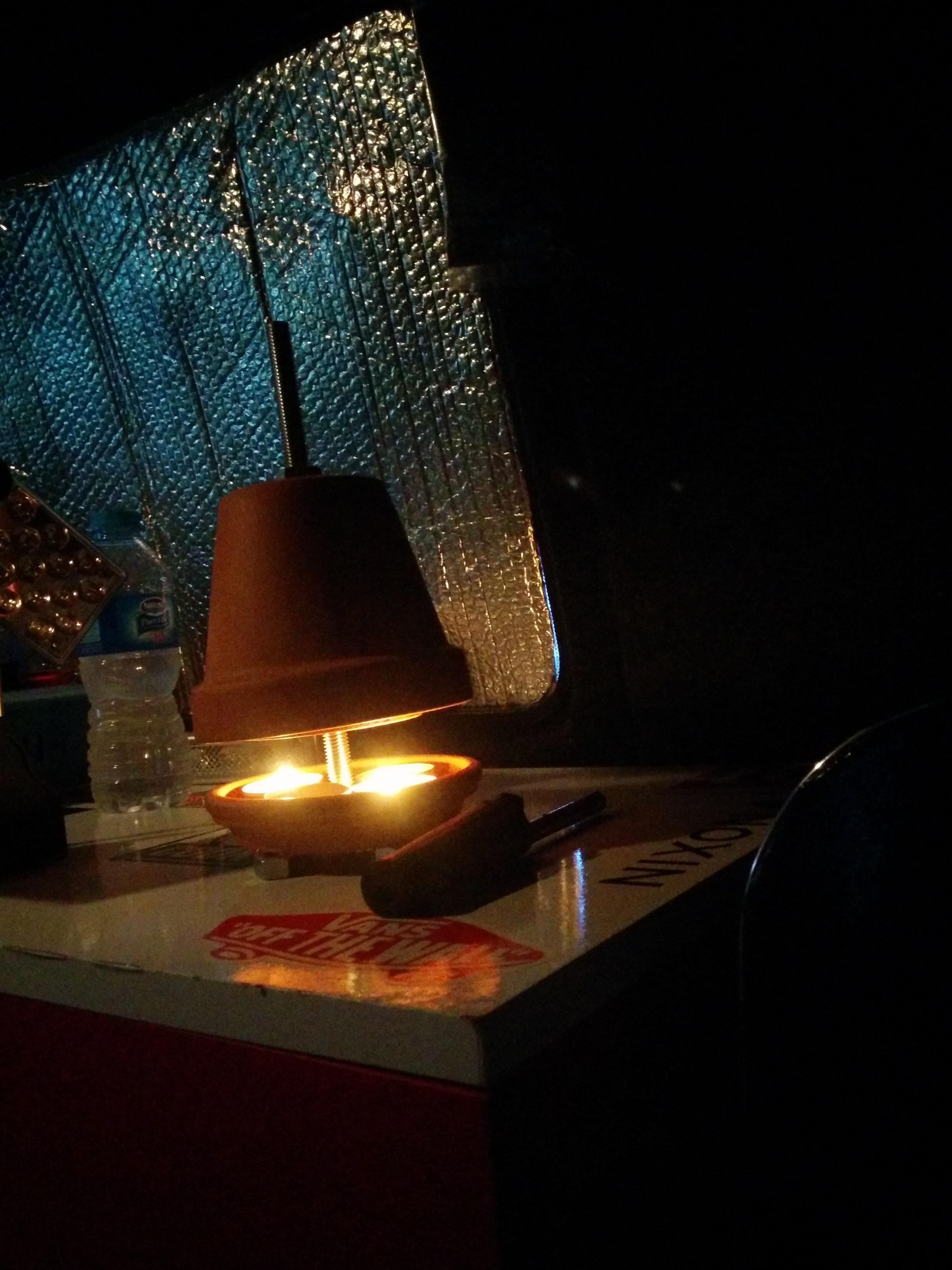 terracotta plant pot candle heater