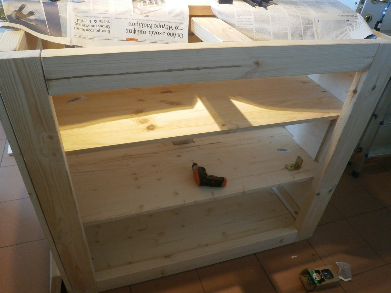 Step 5: Lower Part Shelves and Coverings