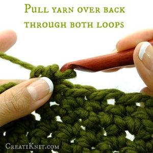 Pull Yarn Over Back Through Both Loops